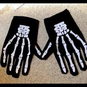 Spirit Halloween skull gloves